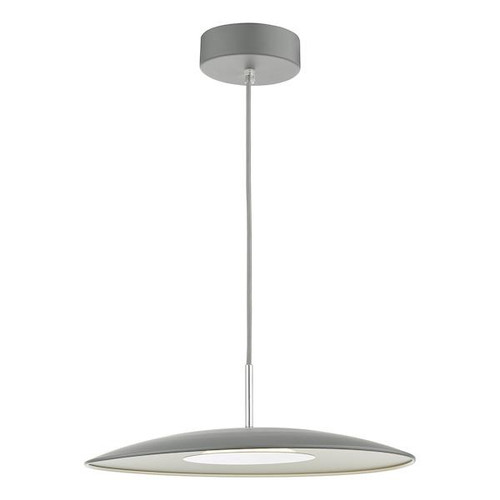 Dar Lighting Enoch 1 Light Matt Grey LED Pendant Light