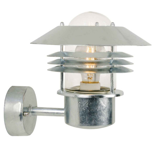 Vejers Galvanized Steel with Clear Glass Wall Light