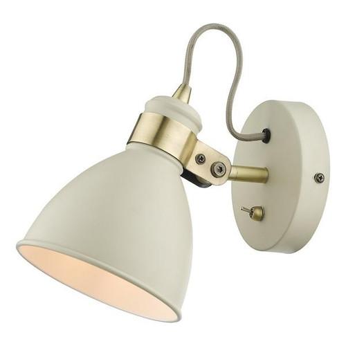 Dar Lighting Frederick Gloss Cream with Satin Chrome Adjustable Wall Light