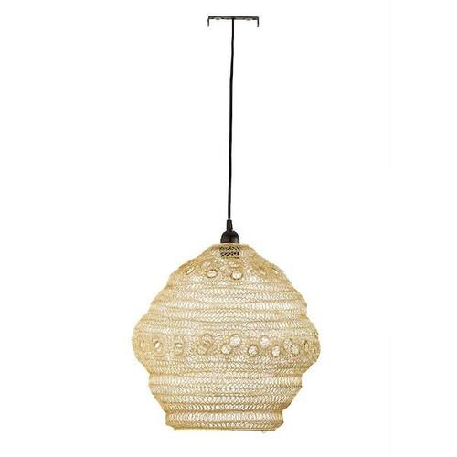 Dar Lighting Apiary Gold Woven Metal Easy Fit Pendant Light