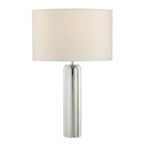 Dar Lighting Rifle Stainless Steel Tall Table Lamp Base Only