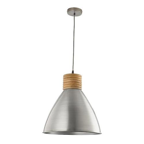 Dar Lighting Vimbai Zinc and Wood details Pendant Light