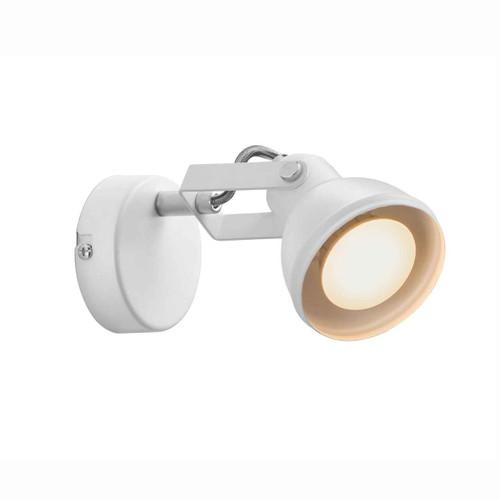 Aslak White Adjustable Head Wall Light