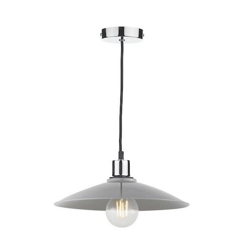 Dar Lighting Yifat Light Grey Gloss Easy Fit Pendant Light