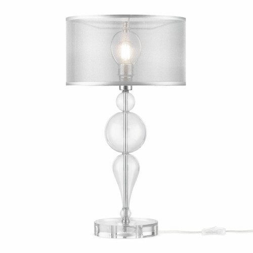 Maytoni Bubble Dreams Glass Body with Translucent Fabric Shade Table Lamp