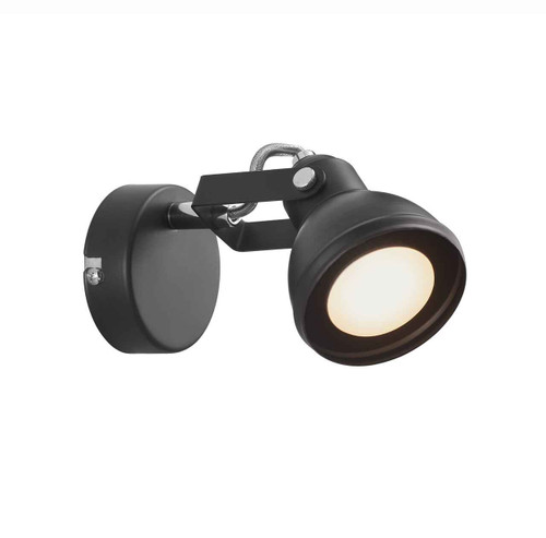 Aslak Black Adjustable Head Wall Light