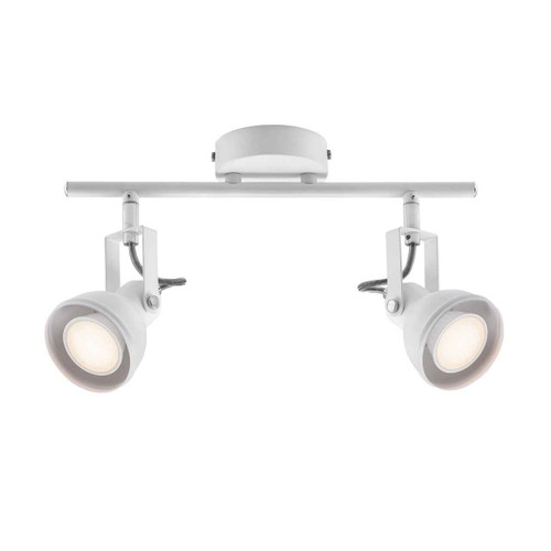 Aslak 2 Light White Adjustable Head Ceiling Bar Spotlight