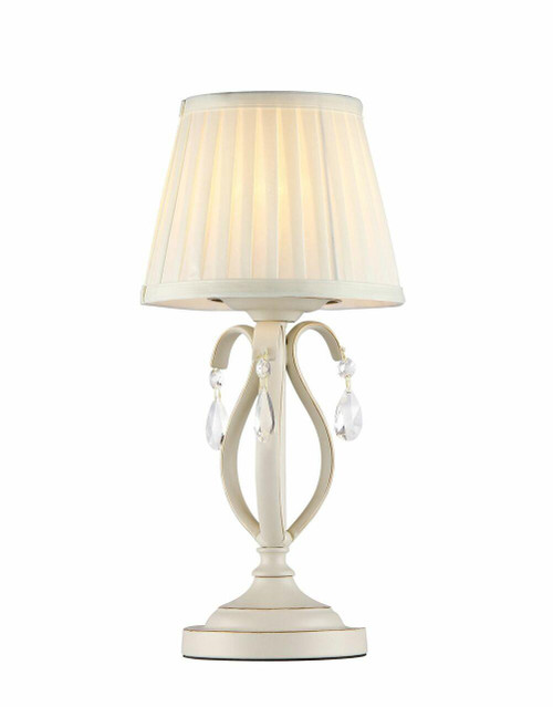 Maytoni Brionia Beige and Gold with Cream Shade Table Lamp