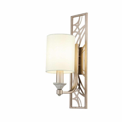 Maytoni Vittoria Antique Gold and Cream with Fabric Shade Large Wall Light