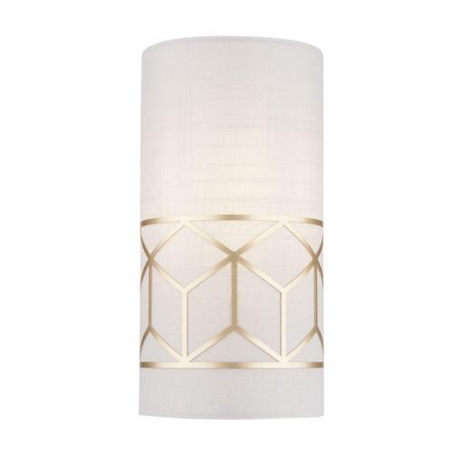 Maytoni Messina Gold with Cream Linen Shade Wall Light
