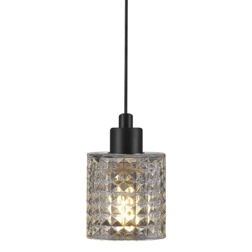 Hollywood Black with Clear Glass Pendant Light
