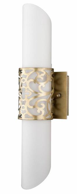 Maytoni Venera 2 Light Antique Brass with Linen Fabric Shade Wall Light