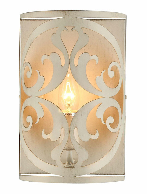 Maytoni Rustika Antique White and Gold Wall Light