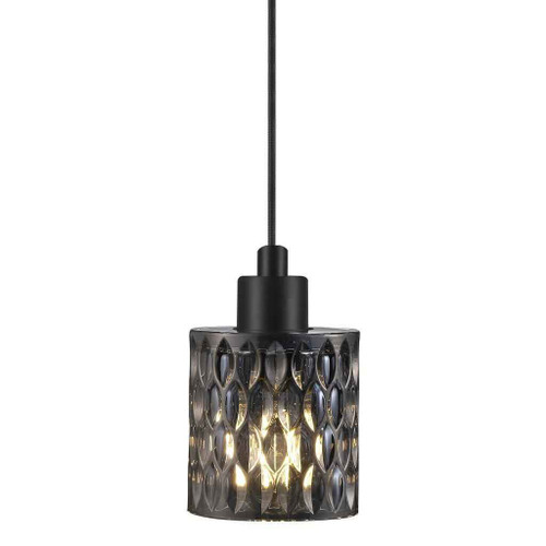 Hollywood Black with Smoked Glass Pendant Light