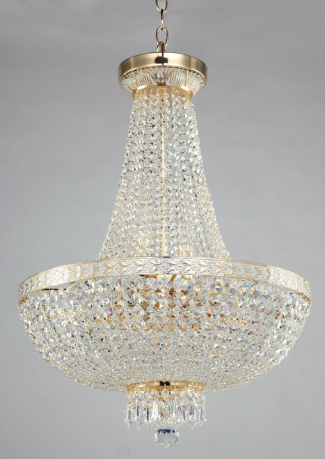 Maytoni Bella 8 Light Gold and Crystal Ceiling Light