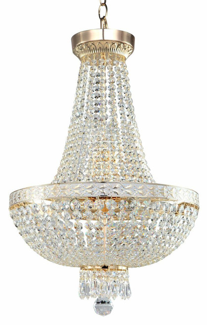 Maytoni Bella 6 Light Gold and Crystal Dropped Ceiling Light