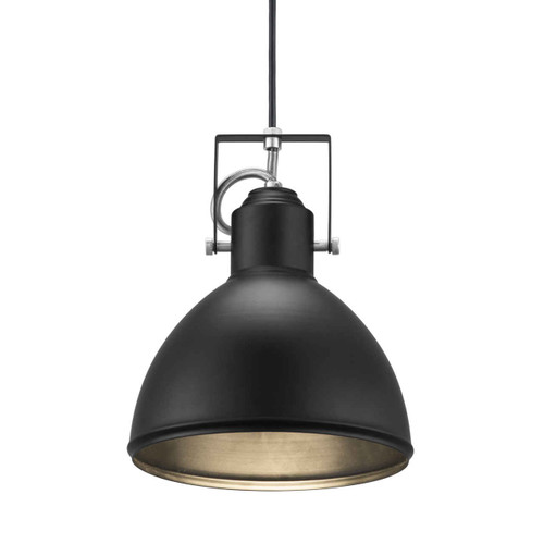 Aslak Black with Adjustable Shade Pendant Light