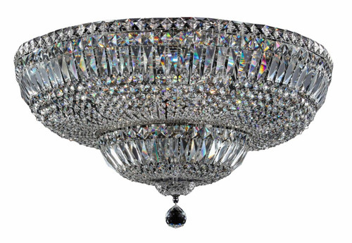 Maytoni Basfor 16 Light Chrome and Crystal Ceiling Light