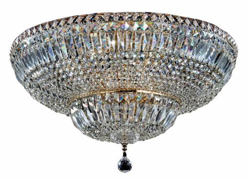 Maytoni Basfor 16 Light Gold and Crystal Ceiling Light