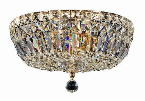 Maytoni Basfor 3 Light Gold and Crystal Ceiling Light