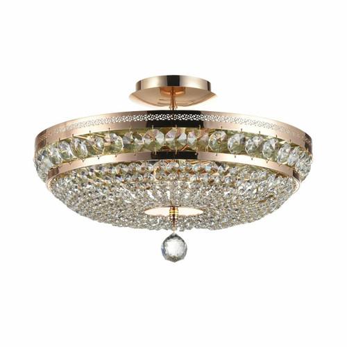 Maytoni Ottilia 6 Light Gold and Crystal Ceiling Light