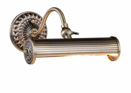 Maytoni Rubens 1 Light Antique Brass Adjustable Picture Light