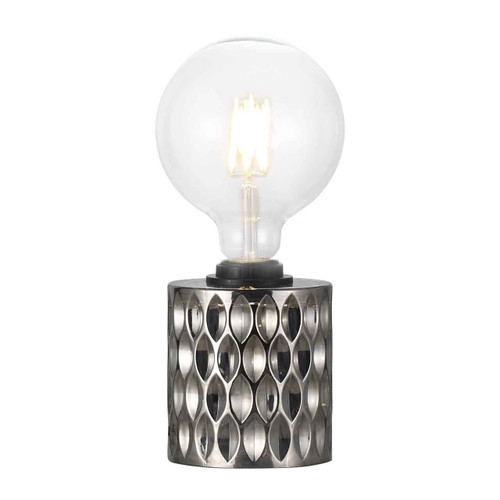 Hollywood Black Cable with Smoked Glass Table Lamp