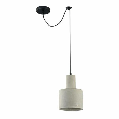 Maytoni Broni 160mm Polished Concrete with Black Pendant Light