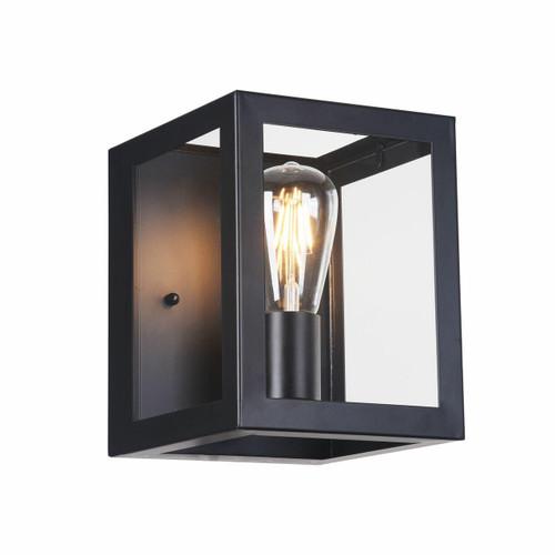 Maytoni Delphi Black with Clear Glass Wall Light