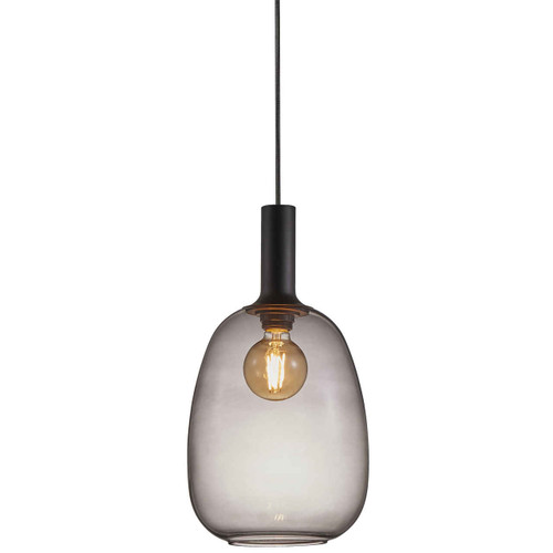 Alton 23 Black with Smoked Glass Pendant Light