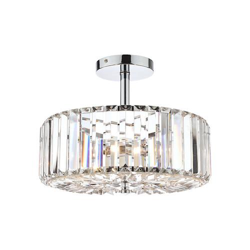 Fernhurst 3 Light Polished Chrome Semi Flush Ceiling Light