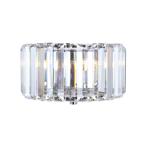 Fernhurst Polished Chrome Glass Wall Light