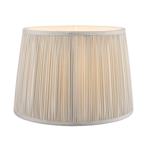 Laura Ashley 8 Hemsley Pleated Silver Shade Only