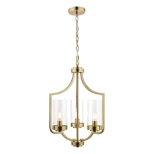 Laura Ashley Joseph 3 Light Antique Brass Chandelier