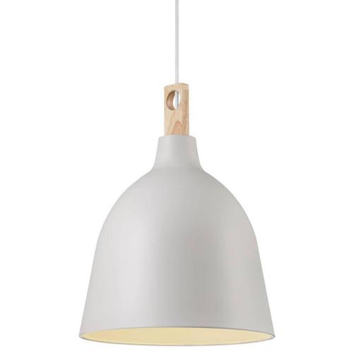 DFTP Moku 29 Grey Metal and Wood Pendant Light
