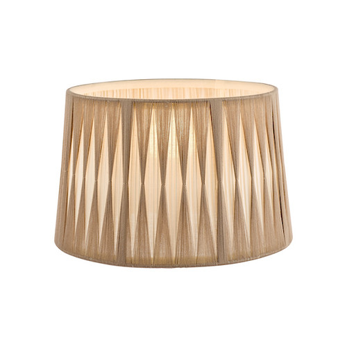 """14"""" Pleated Natural Empire Shade Only"""