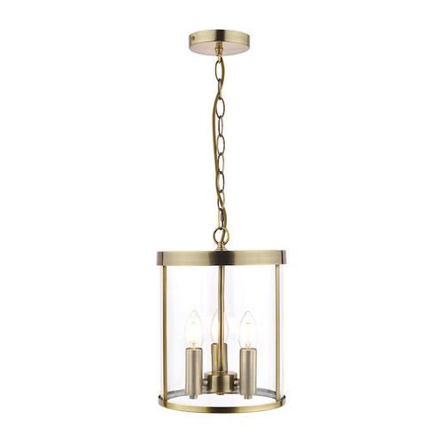 Selbourne 3 Light Antique Brass Lantern Pendant Light