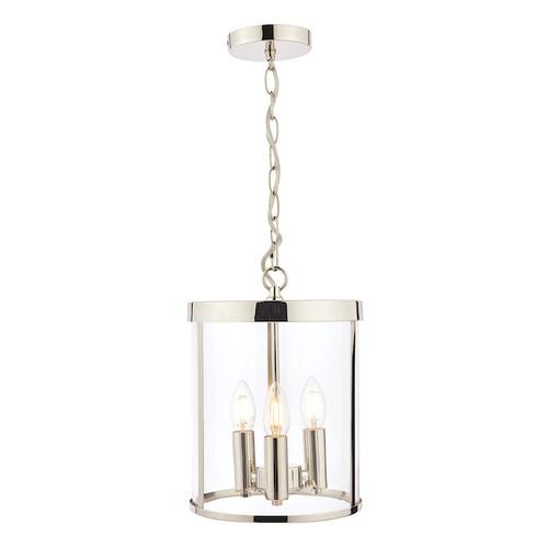 Selbourne 3 Light Polished Nickel Lantern Pendant Light