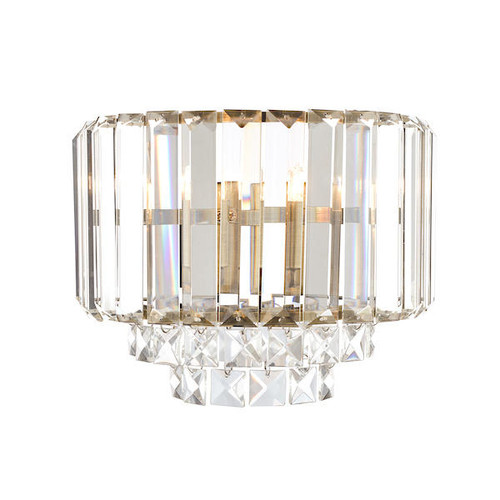 Laura Ashley Vienna Crystal and Antique Brass Wall Light