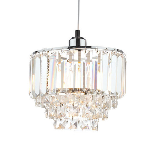 Laura Ashley Vienna Crystal and Polished Chrome Easy-Fit Pendant Shade Only