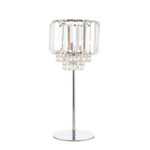 Laura Ashley Vienna Crystal and Polished Chrome Table Lamp