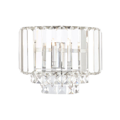 Laura Ashley Vienna Crystal and Polished Chrome Wall Light
