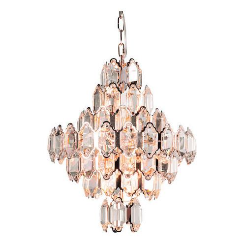 Laura Ashley Windsor 8 Light Art Deco Rose Gold and Crystal Ceiling Light