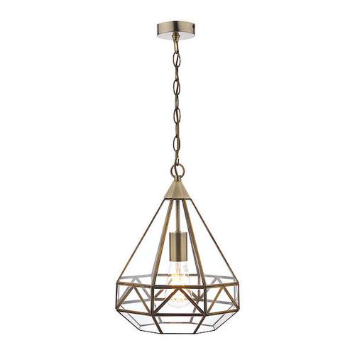 Laura Ashley Zaria Antique Brass Lantern Pendant Light