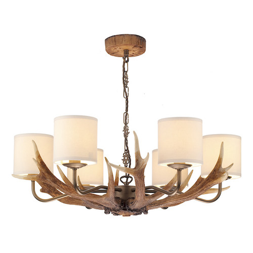 Antler 6 Light with Shades Pendant Light