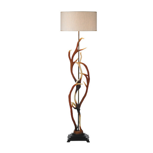Antler with Shade Floor Lamp