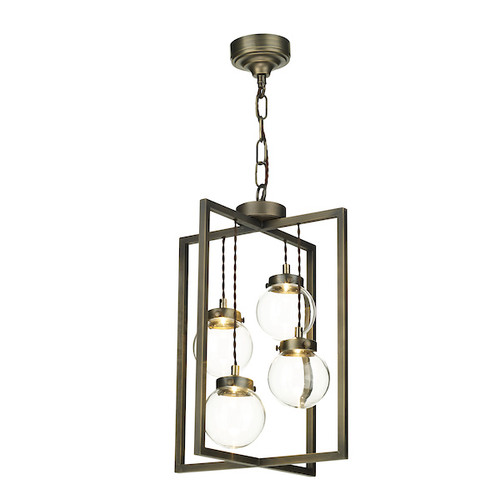 Chiswick 4 Light Antique Brass Lantern