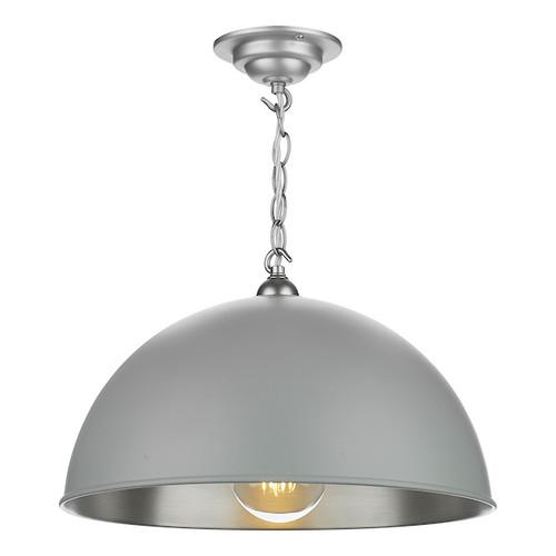 Ealing Brushed Chrome with Metal Shade Single Pendant Light