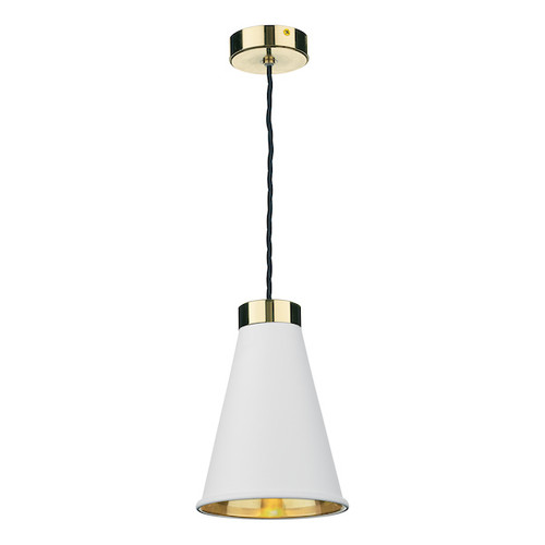 Hyde with Arctic White Metal Shade Single Pendant Light