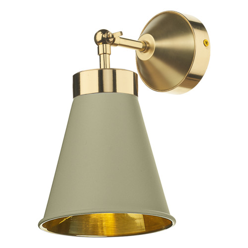 Hyde Polished Brass with Metal Shade Wall Light